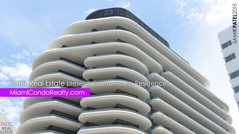 photo of exterior of Faena House Miami Beach condominium