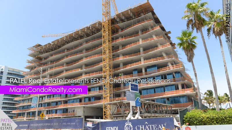 photo of exterior construction of Fendi Chateau condominium