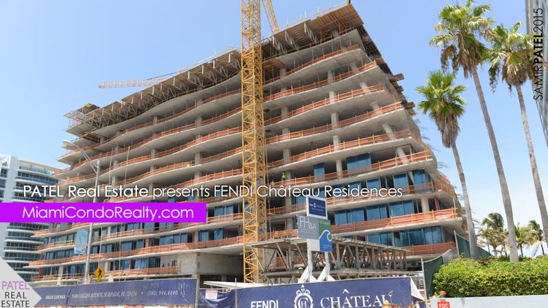 photo of exterior construction of Fendi Chateau condominium