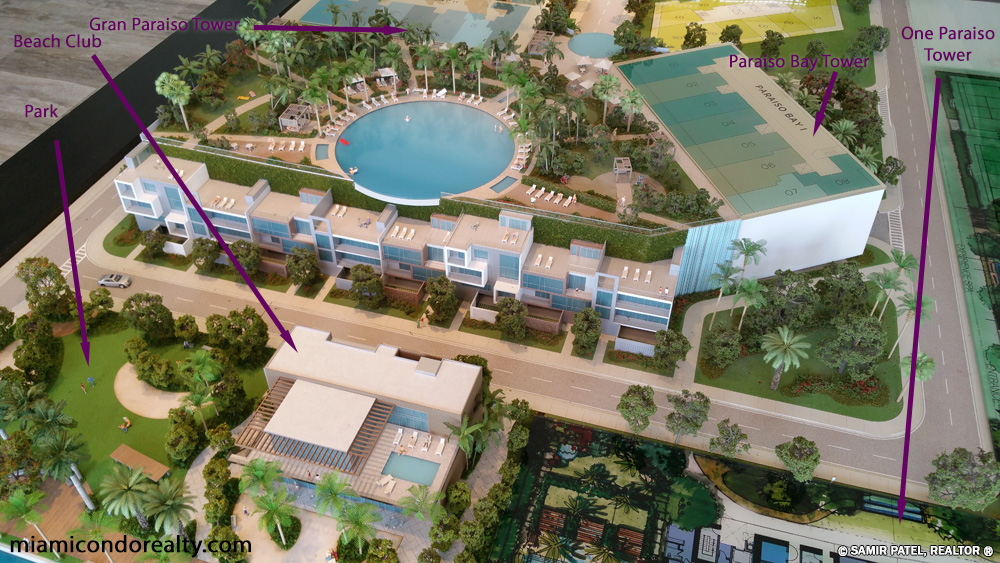 Image of Gran Paraiso and Paraiso Bay site map