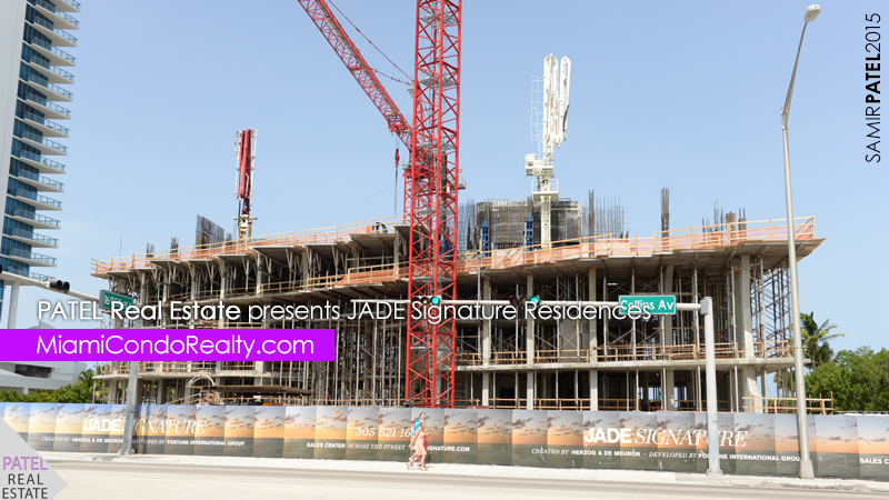 photo of exterior construction of Jade Signature condominium