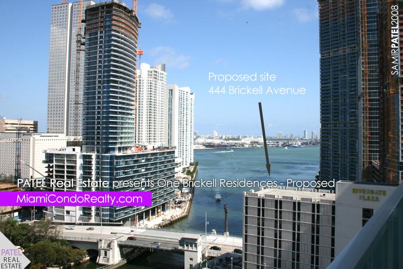 photo of proposed construction site of One Brickell condominium