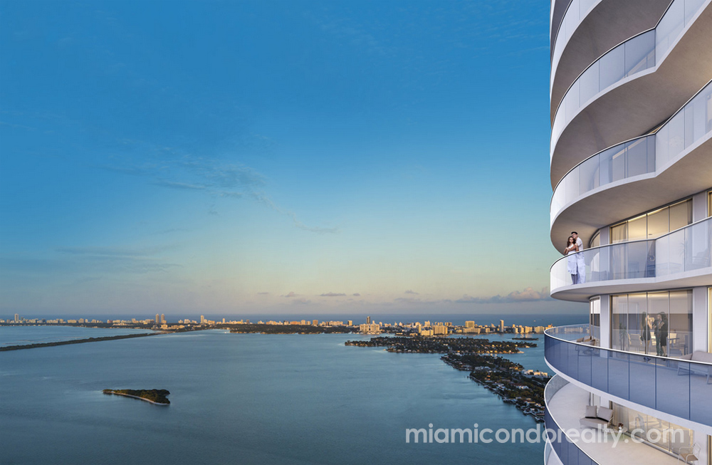rendering of Aria on the Bay building