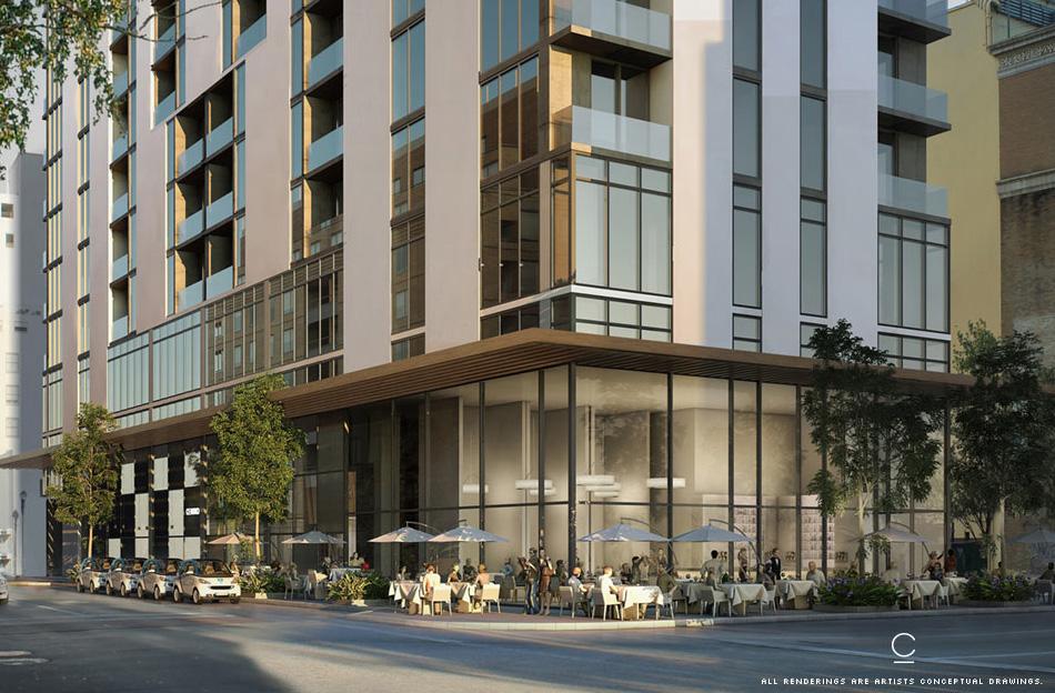 rendering of Centro building