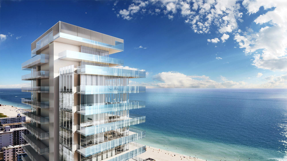 photo of glass condo in miami beach