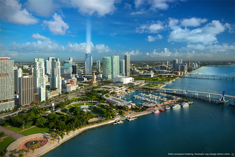 rendering of Paramount Miami Worldcenter condo