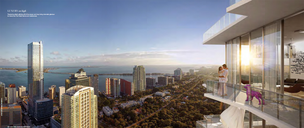 rendering of SLS Brickell condominium